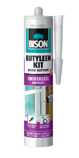 Bison Butyleenkit Wit Koker 300 ml NL/FR