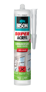 Bison Super Acrylaat Schilderskit Wit Koker 300 ml NL/FR