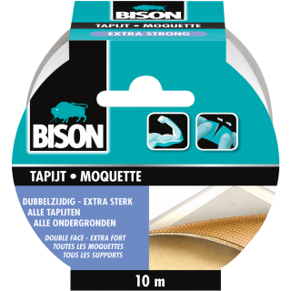 Bison Tapijttape Extra Strong Rol 10 m x 50 mm NL/FR